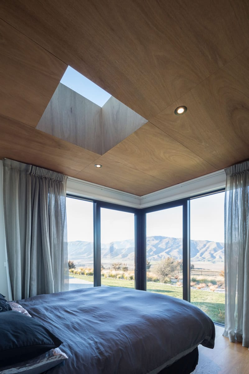 Bedroom with skylight for natural light
